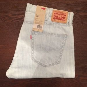 Levi's 511 cut off short lightweight blue slim A03